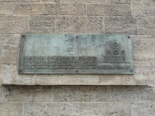 Plaquette Synagoge Bonn