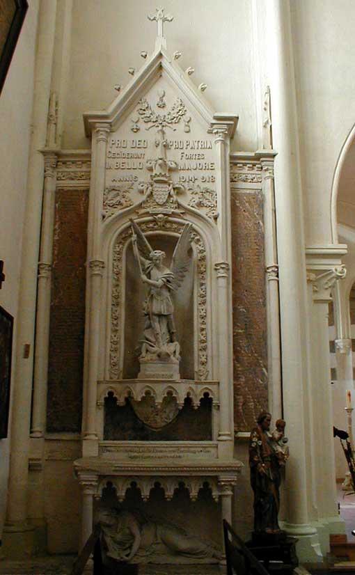Oorlogsmonument Église Saint-Laurent