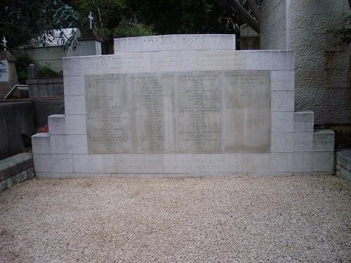 Oorlogsgraf van het Gemenebest Joodse Begraafplaats Beiroet