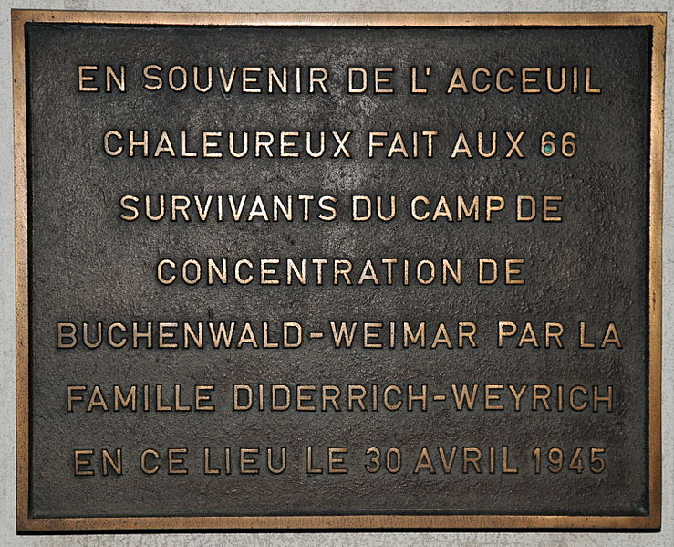 Plaquette Buchenwald-overlevenden