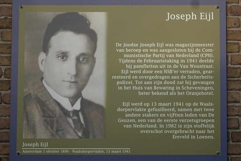 Memorial Plates Slotermeer Joop Eijlstraat