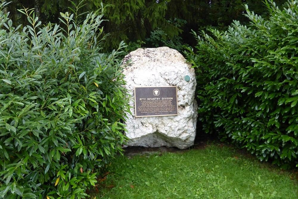 Gedenksteen 87th Infantry Division