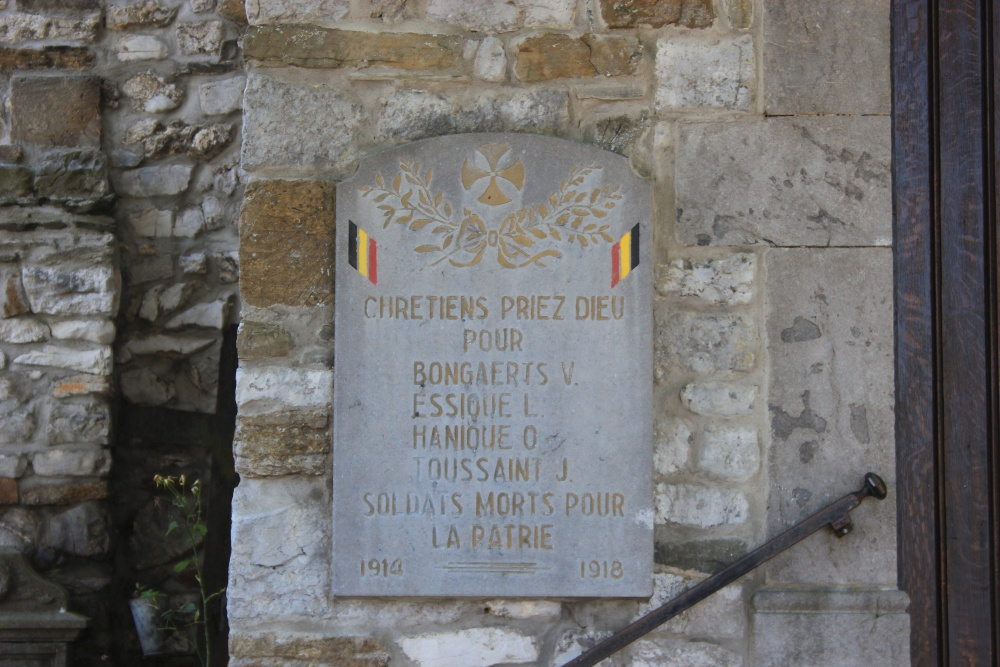 Gedenkplaten Comblain-la-Tour
