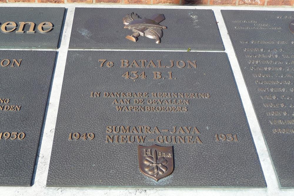 Plaque 7th Battalion 434 B.I.