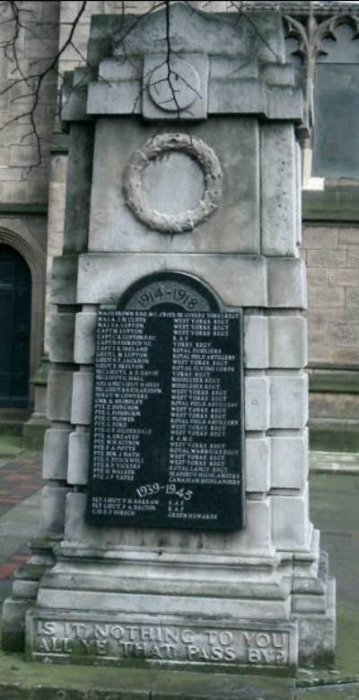 War Memorial Mill Hill Unitarian Church