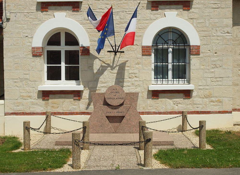 Oorlogsmonument Cerny-en-Laonnois