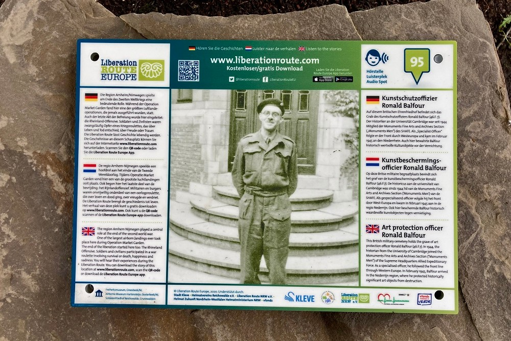 Liberation Route Marker 95 - Ronald Balfour