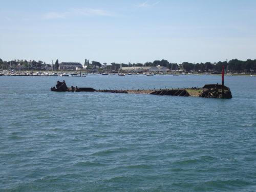 Gezonken U-Boot en Scheepswrakken Lorient