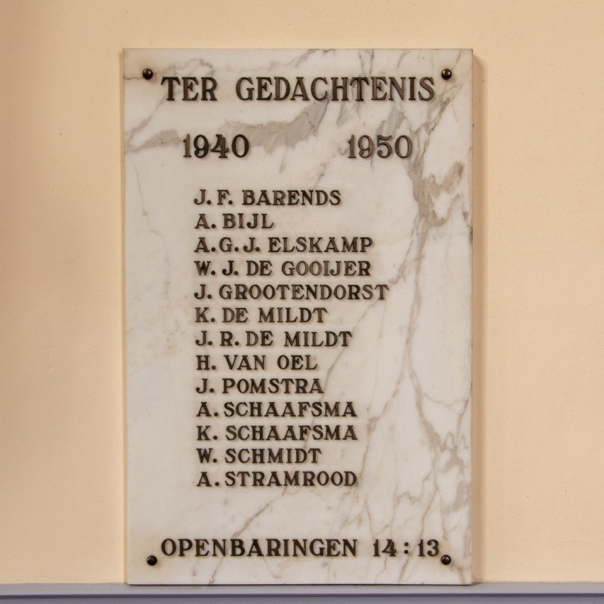War Memorial NoorderLichtkerk Zeist