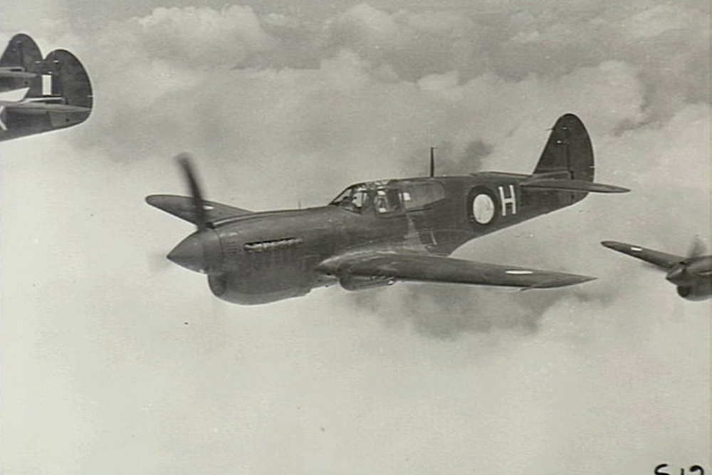 Crashlocatie P-40K-10 Kittyhawk # A29-183