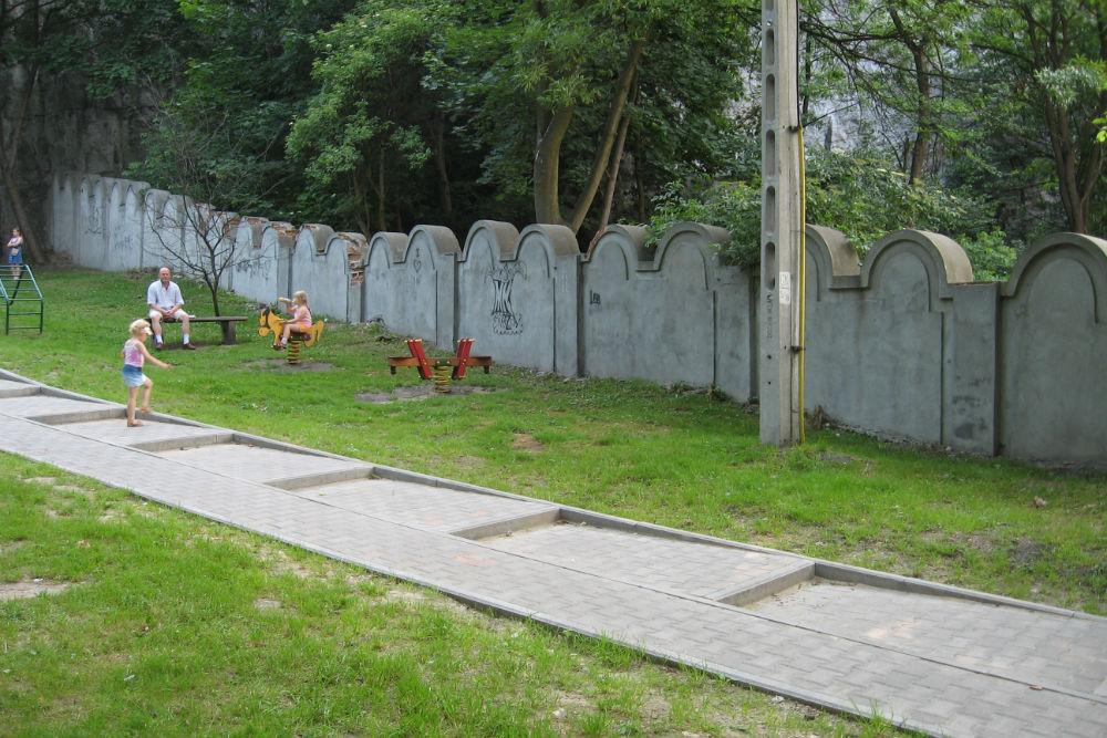 Replica Wall Jewish Ghetto Cracow