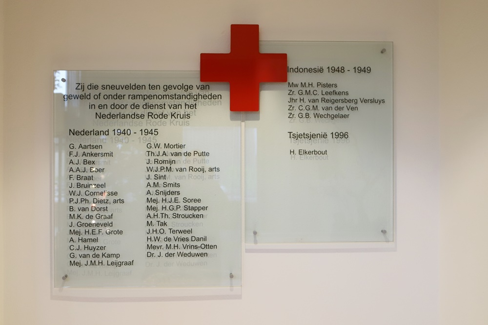 Red Cross plaquette