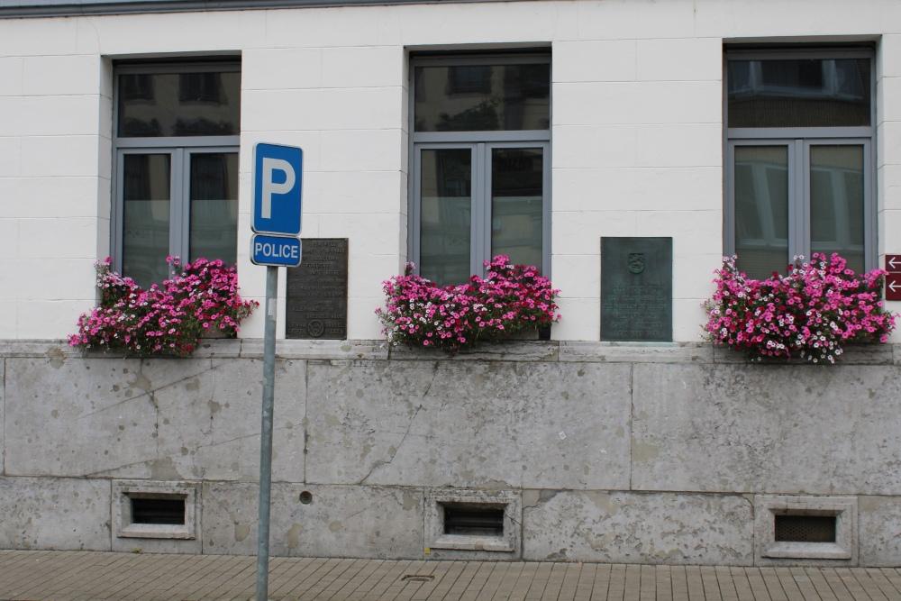 Commemorative Plaques Town Hall Péruwelz