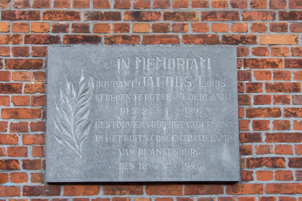 Gedenksteen Adjudant Jacobs Arendonk