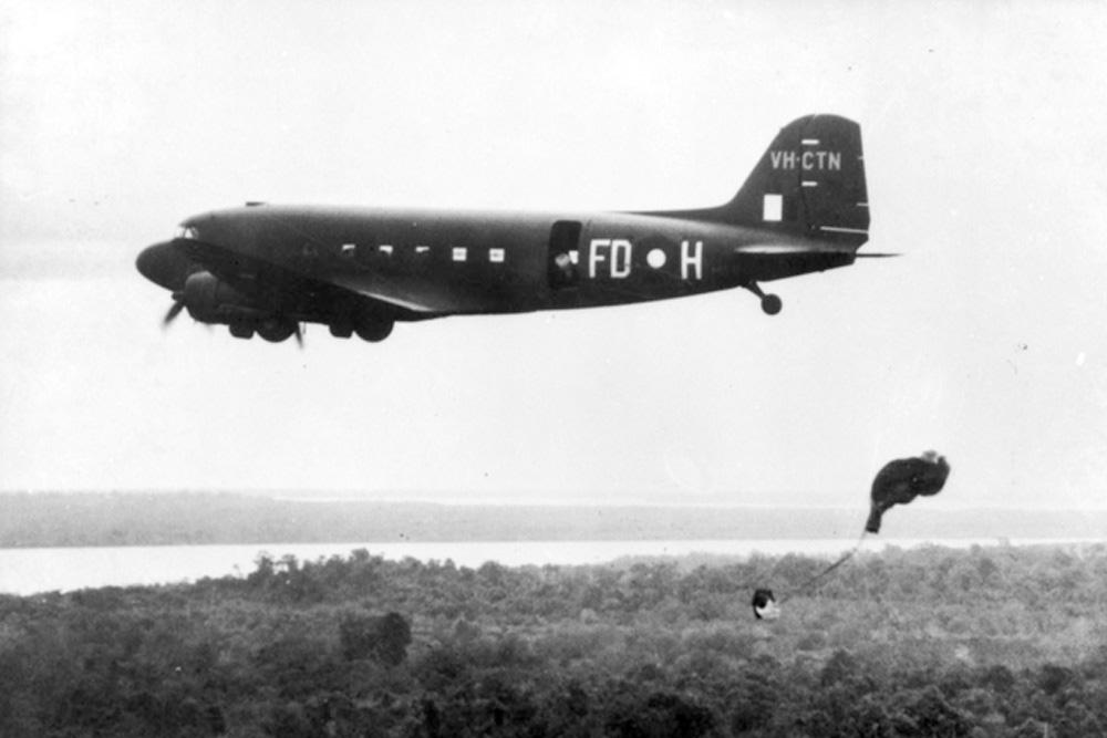 Crashlocatie C-47A-25-DK Dakota A65-54 Tail VH-CUP