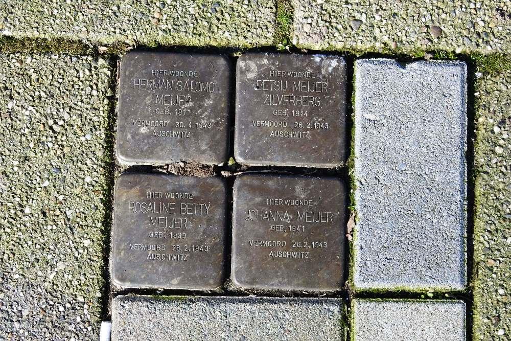 Stumbling Stones Da Costastraat / Tollenstraat