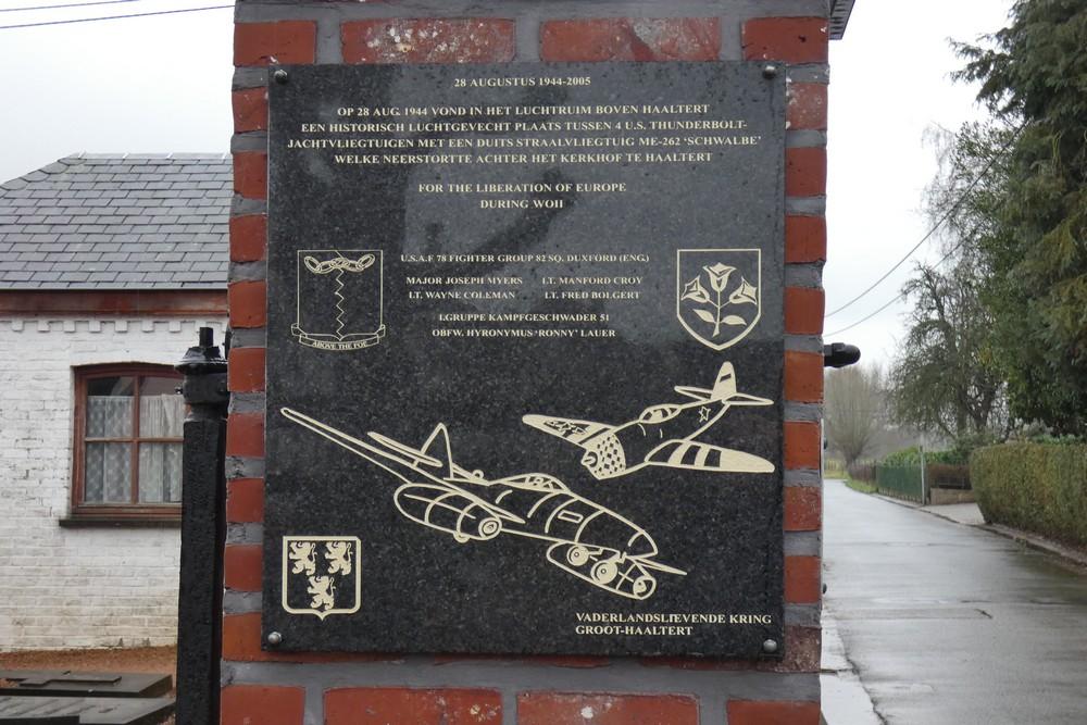 Gedenkplaat Luchtgevecht Haaltert