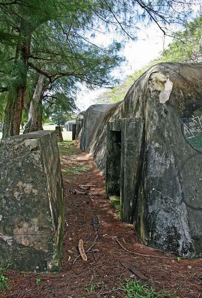 Japanese Air Raid Shelters Swimming Lane (Saipan)