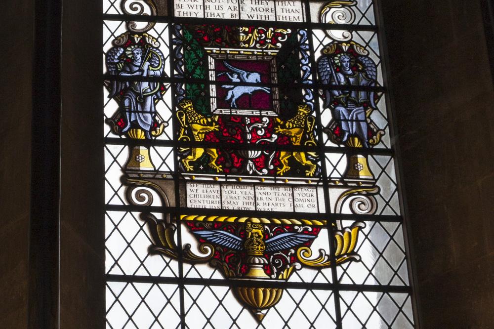 Glas-in-lood-raam Glider Pilot Regiment Salisbury Cathedral