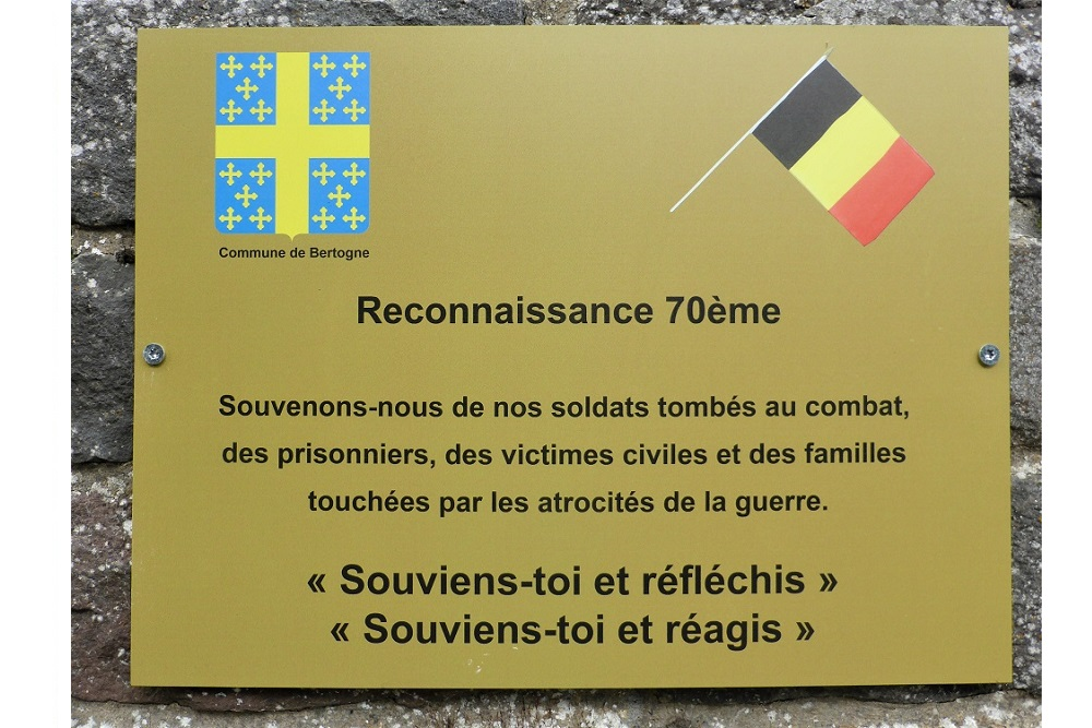 Commemorative Plaque Roumont