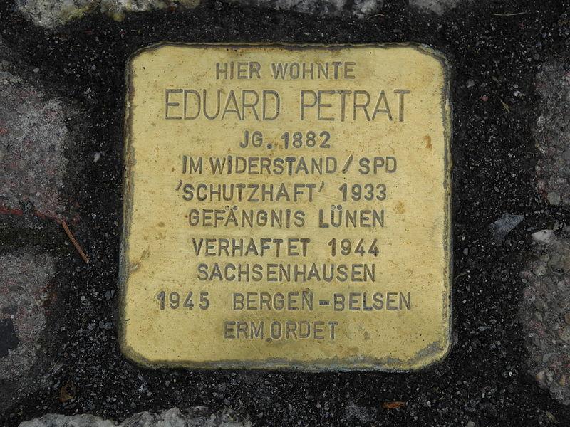 Stumbling Stone Horstmarer Straße 28