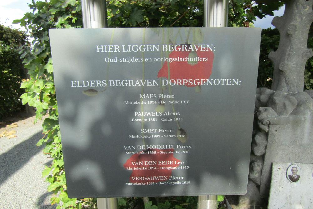 Oudstrijders Perken Begraafplaats Mariekerke