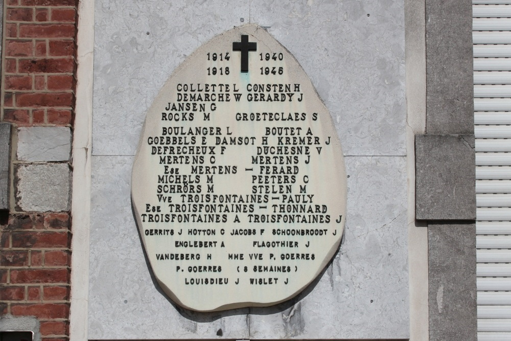 Commemorative Plate War Victims Micheroux
