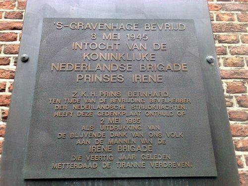 Plaquette Prinses Irene Brigade Den Haag