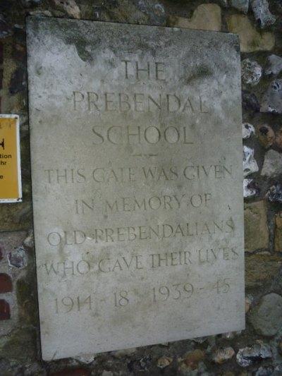 Oorlogsmonument Prebendal School