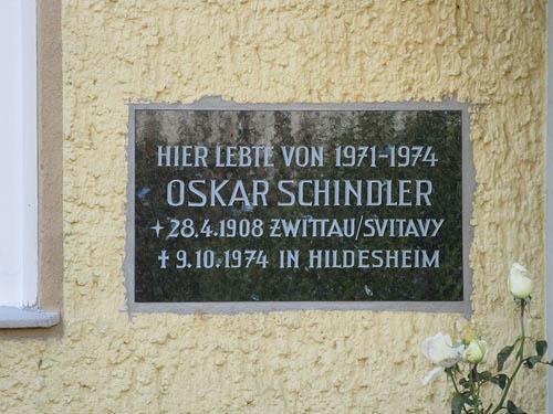 Plaque Former Residence Oskar Schindler Hildesheim
