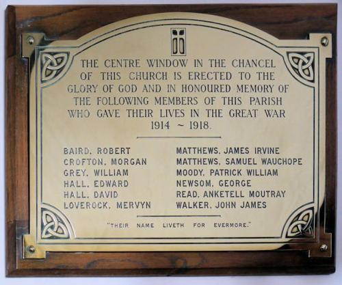 War Memorial Wicklow Parish Church