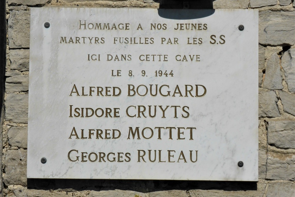 Commemorative Plaque Executed Civilians Modave