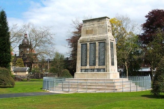 War Memorial Bonhill Parish Alexandria