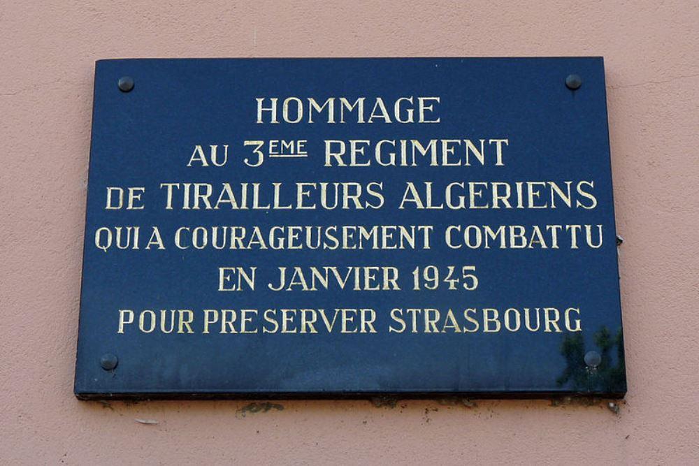 Plaquette 3e Régiment de Tirailleurs Algériens