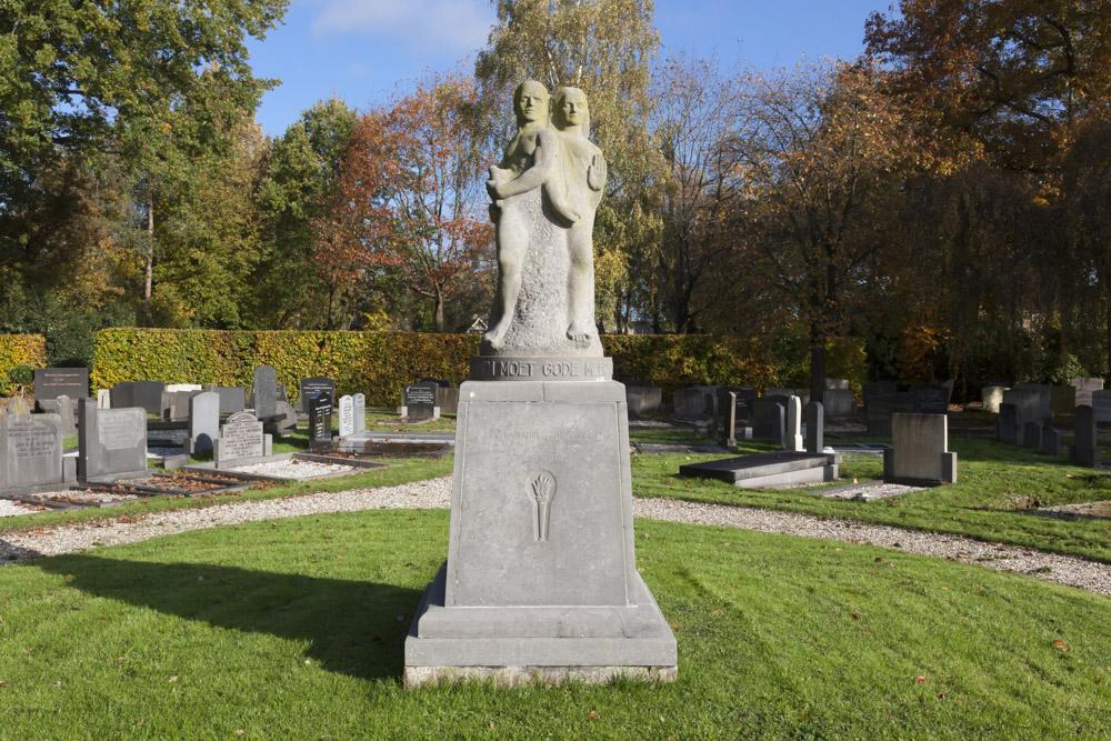Memorial & Grave Piet de Springer Dutch Reformed Cemetery Langbroek