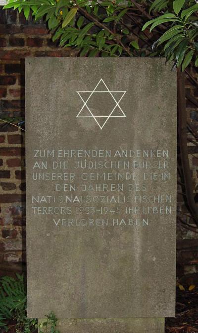 Monument Joodse Begraafplaats Rommerskirchen