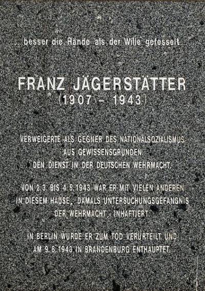 Plaquette Franz Jägerstätter
