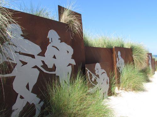 Kunstwerk D-Day Strandopgang Courseulles-sur-Mer