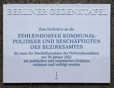 Plaque Jews Zehlendorf