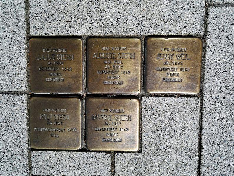 Stolpersteine Hauptstraße 15