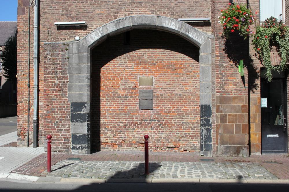 Gedenkplaten Stadhuis Wavre