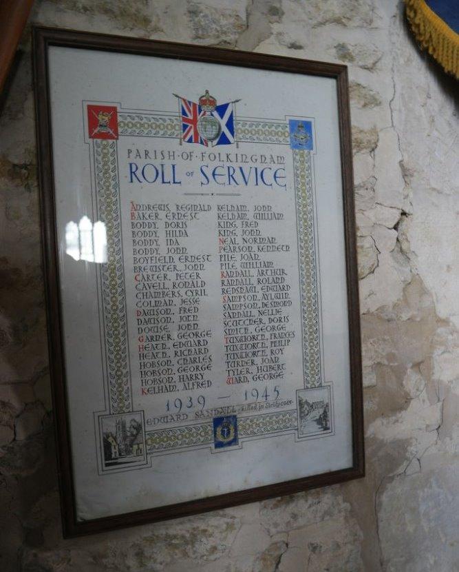 World War II Roll of Honour St. Andrew's Church
