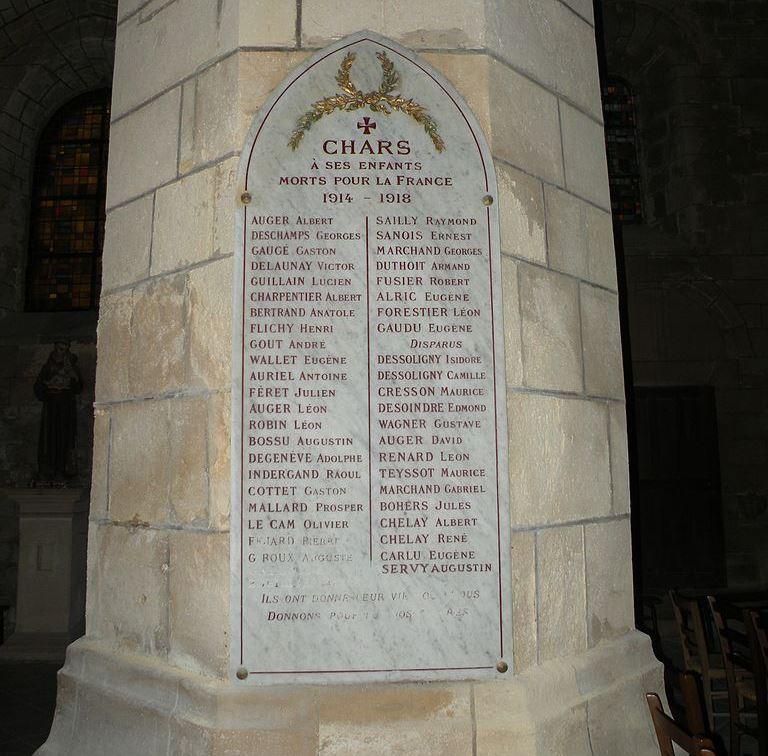 War Memorial Chars