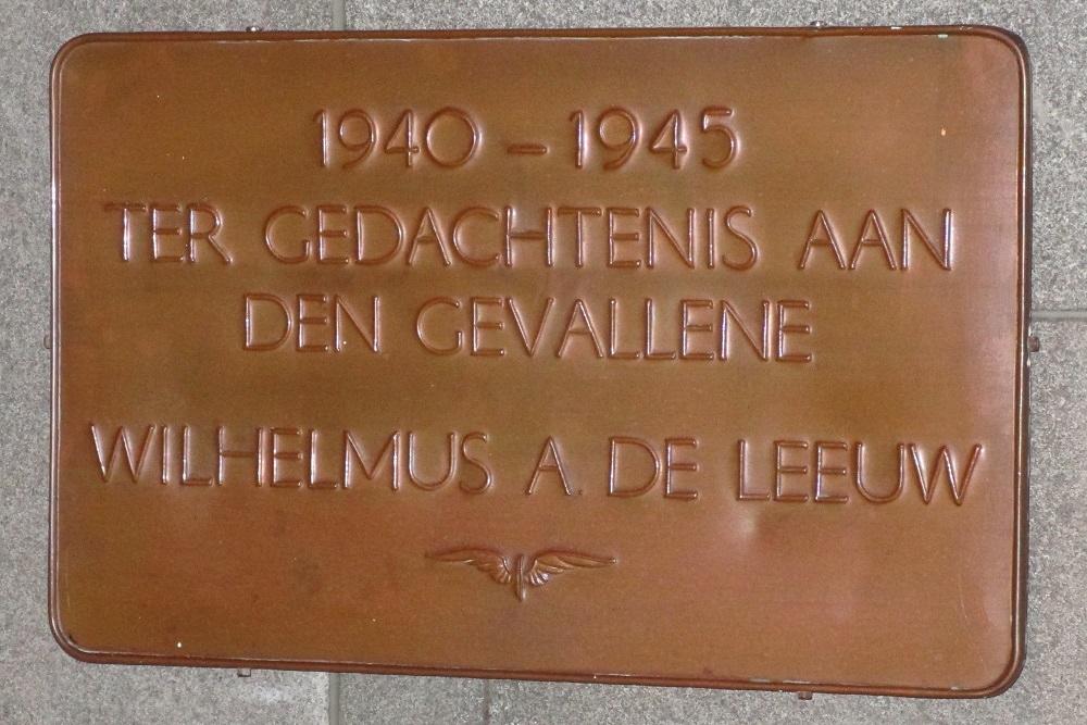 Plaque Killed Railway-Employee Breda