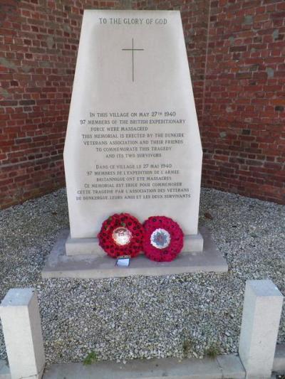 Monument Slachtoffers Executie Le Paradis