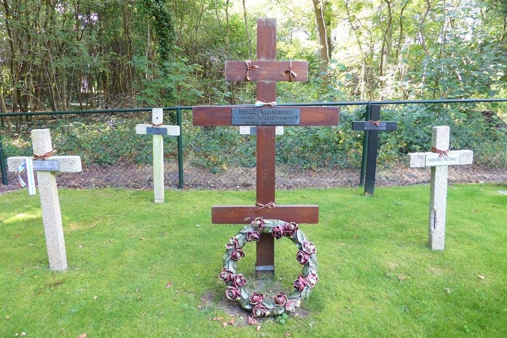 Russische Graven Krijgsgevangenen Belgische Oorlogsbegraafplaats Leopoldsburg