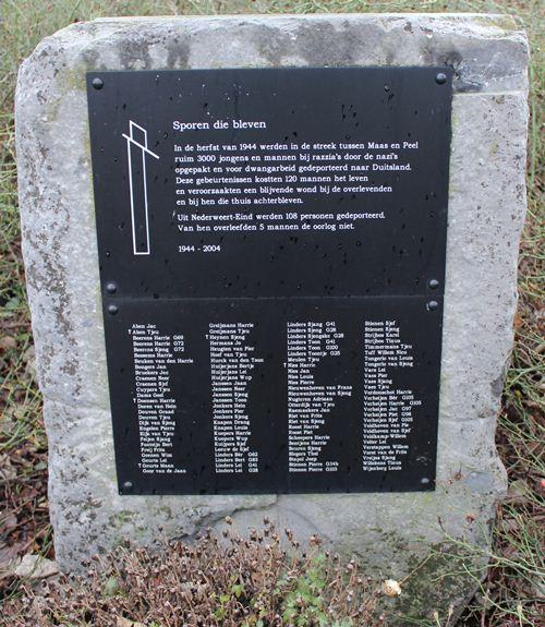 Monument 'Sporen die bleven' Nederweert-Eind