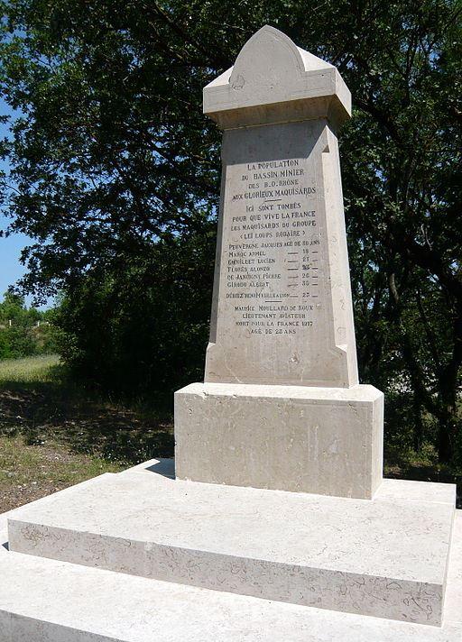 Monument Omgekomen Verzetsstrijders 'Leï Loups Rodaïre'