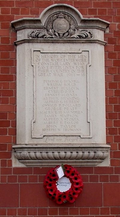 War Memorial Worcestershire Constabulary