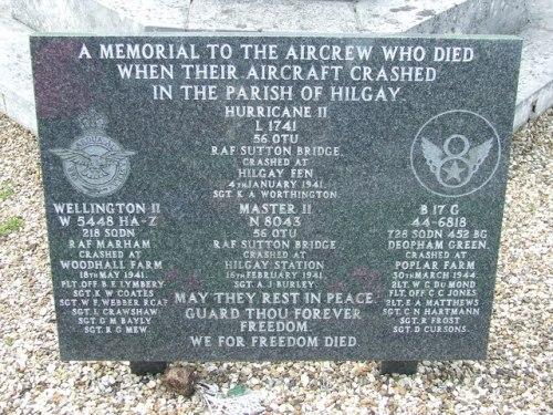 Monument Neergestorte Vliegtuigen